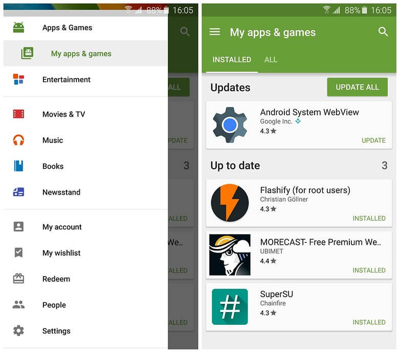 Update Google Play Store Manually